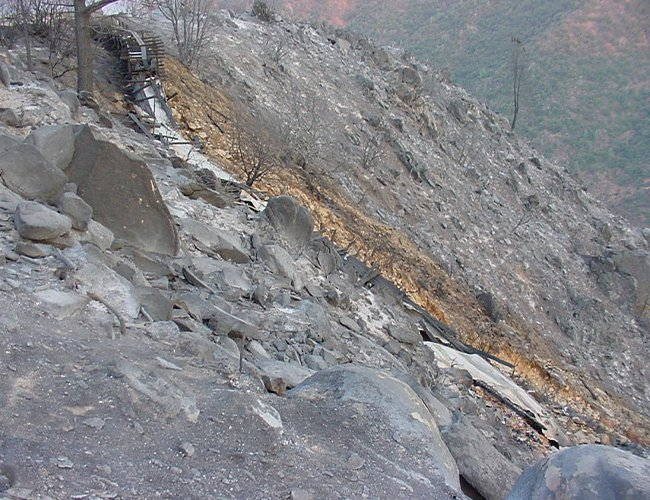 Flume 10 Burned - September 7, 2001