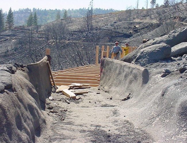 Flume 11 Start of Rebuild - September 16, 2001